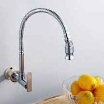 Как установить настенный кран питьевой воды