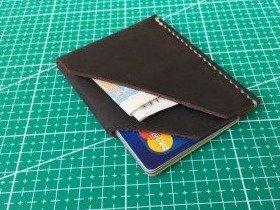 Как сделать бумажник из кожи