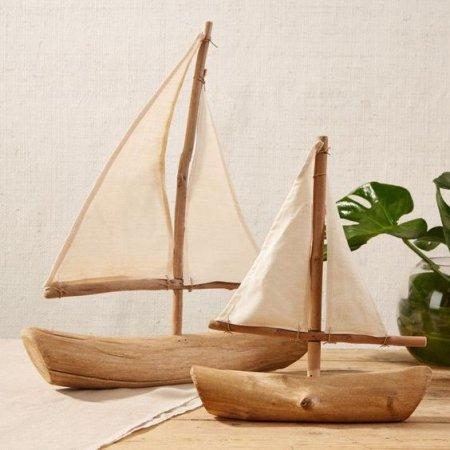 Декоративная деревянная лодочка своими руками