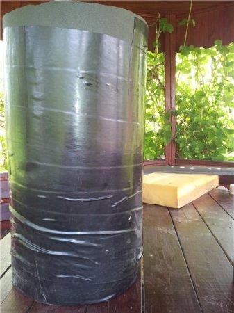 Боксерская груша из бревна и поролона