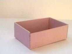 Как сделать картонный коробок