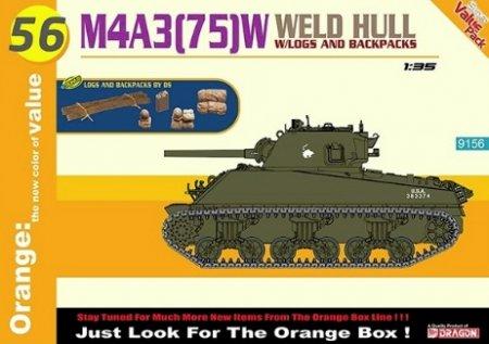 Модель танка 9156 Dragon 1/35 Американский танк M4A3(75)W WELDED HULL обзор