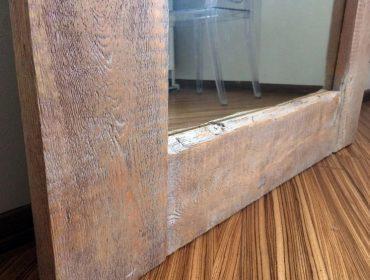 Рама для напольного зеркала своими руками из массива дерева